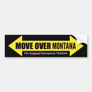 Move Over Montana Bumper Sticker