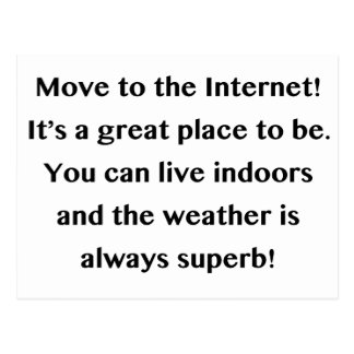 Move to the Internet Geek Postcard