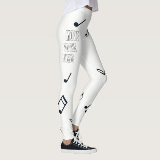 Move to the Music Leggings Plain Text
