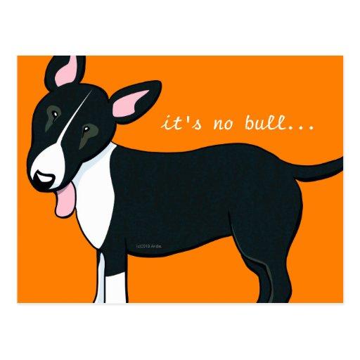 Moved Bull Terrier Dog New Address Postcard