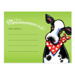 Moved Sweetheart Cow Change Address Announcements Postcard