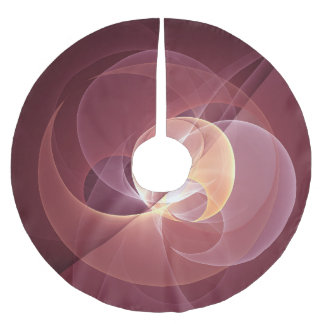 Movement Abstract Modern Wine Red Pink Fractal Art Brushed Polyester Tree Skirt