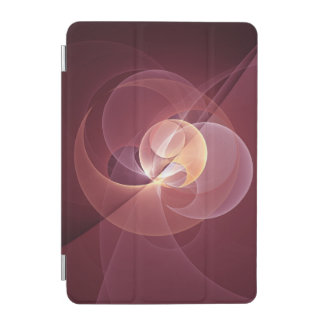 Movement Abstract Modern Wine Red Pink Fractal Art iPad Mini Cover