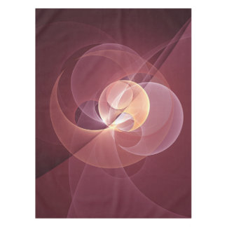 Movement Abstract Modern Wine Red Pink Fractal Art Tablecloth