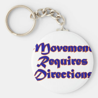 Movement Requires Directions Key Chain