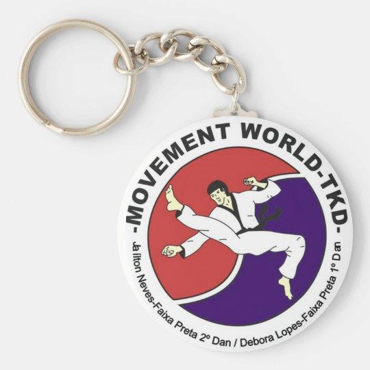Movement World Taekwondo Basic Round Button Key Ring