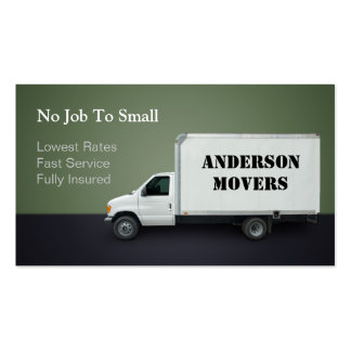 Mover or Moving Company Pack Of Standard Business Cards