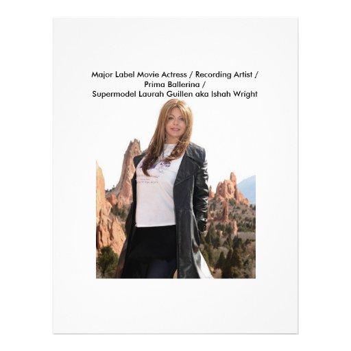 Movie Actress Laura Guillen aka Ishah Flyer Design