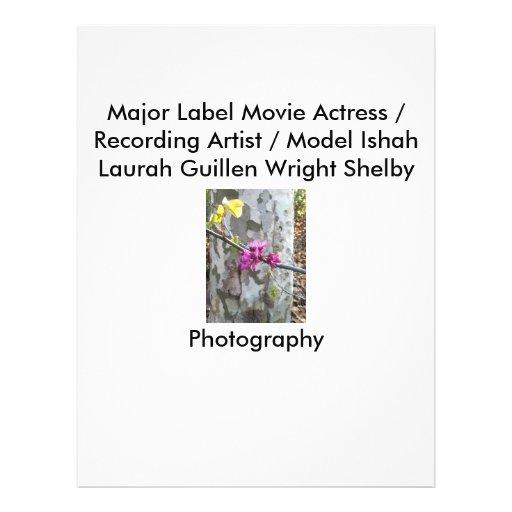 Movie Actress Laura Guillen aka Ishah Photography Custom Flyer