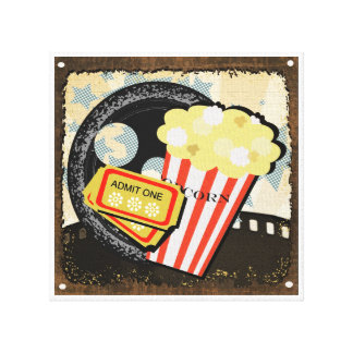 Movie and Entertainment Room Decor - Gallery Wrap Canvas
