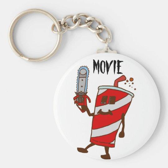 Movie Basic Round Button Key Ring