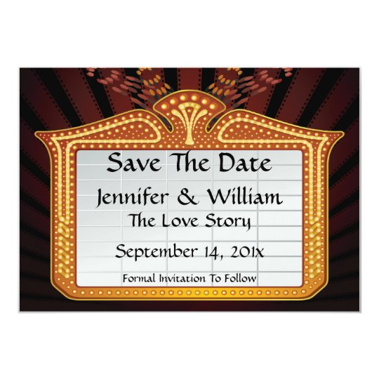 Movie Billboard Save The Date Announcement