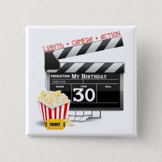 Movie Birthday Party 30th Birthday 15 Cm Square Badge