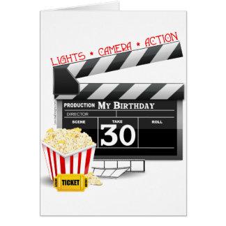 Movie Birthday Party 30th Birthday Greeting Card