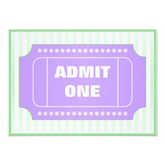 Movie Birthday Party Purple Green Card