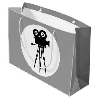 MOVIE CAMERA (BLACK AND WHITE) Large Gift Bag