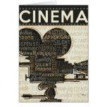 Movie Camera Reel Greeting Card