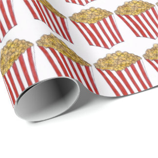 Movie Carnival Caramel Corn Popcorn Food Gift Wrap Wrapping Paper