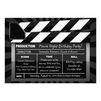 Movie Clap Board Custom Party Invitations