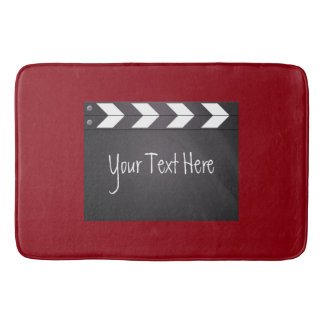 Movie Clapboard Red And Black Bath Mats