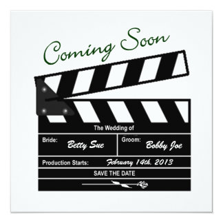 Movie Clapboard Wedding Save the Date 13 Cm X 13 Cm Square Invitation Card