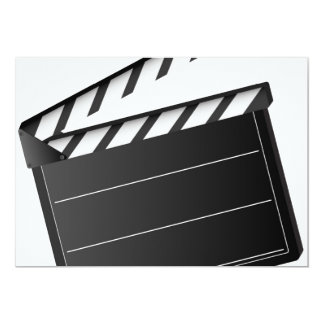 Movie Clapper 13 Cm X 18 Cm Invitation Card