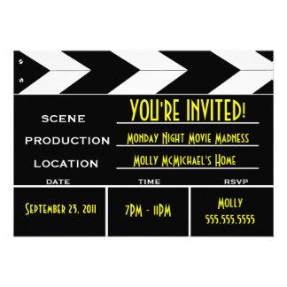 Movie Clapper Board Custom Invitation
