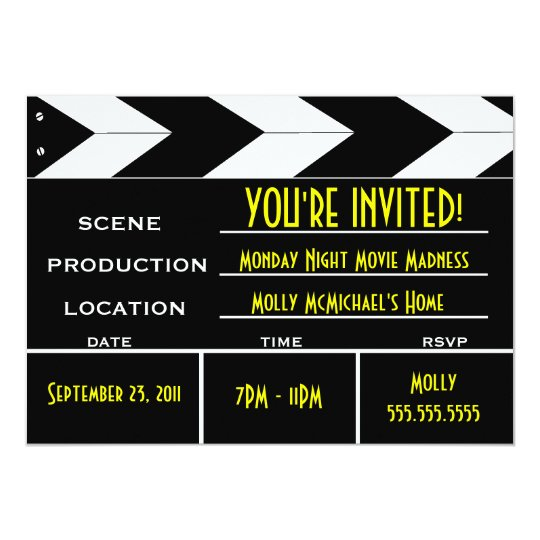 hollywood party invitations & announcements | zazzle.co.uk, Party invitations