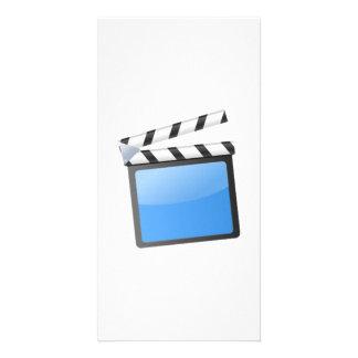 Movie Clapper Board Customized Photo Card