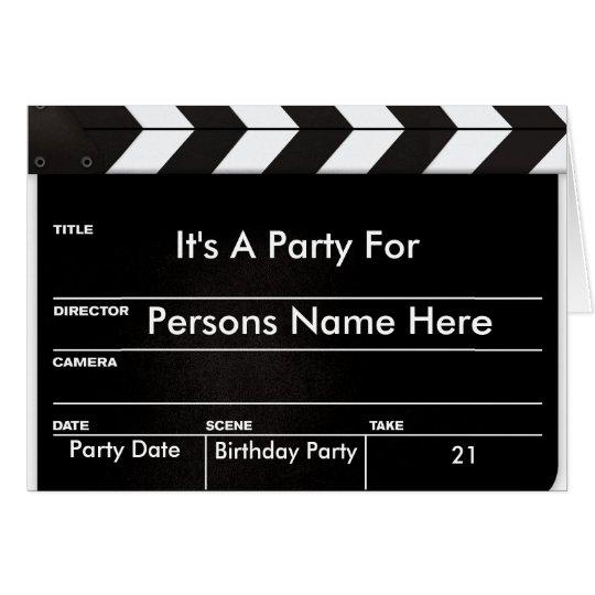 Movie Clapper Invitation