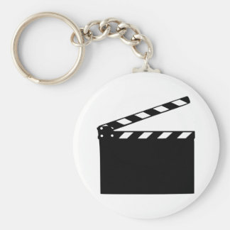 Movie - clapperboard basic round button key ring
