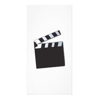 Movie Clapperboard Custom Photo Card