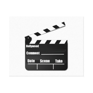 Movie Clapperboard Gallery Wrapped Canvas