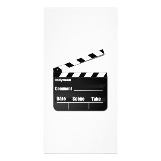 Movie Clapperboard Personalized Photo Card