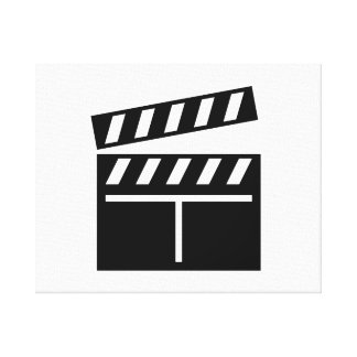 Movie Clapperboard Stretched Canvas Print