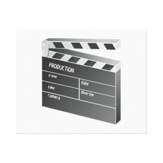 Movie Clapperboard Stretched Canvas Prints