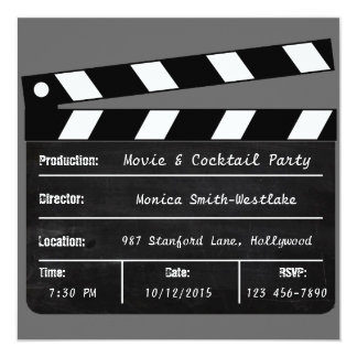Movie & Cocktail Party Invitation