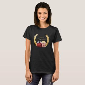 Movie Connoisseur Movie Reel, Popcorn, Cinema T-Shirt