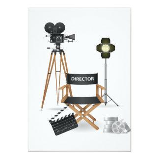 Movie Director Set Invitations