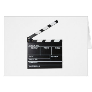 movie film clapperboard card