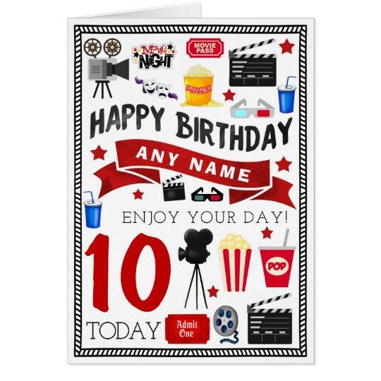 Movie Film Night Personalised Birthday Card