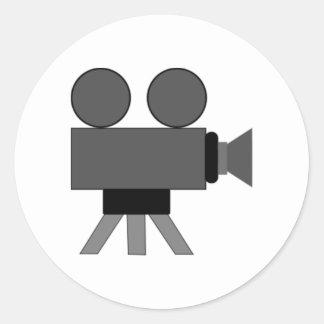 Movie Film Projector Classic Round Sticker