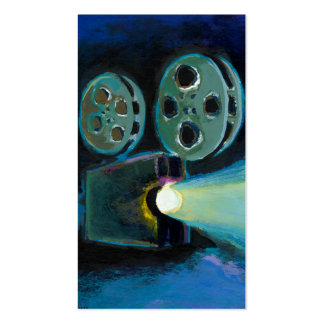Movie film projector colorful expressive art pack of standard business cards