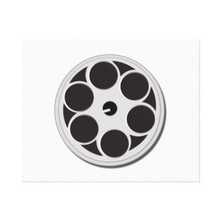 Movie Film Reel Gallery Wrapped Canvas