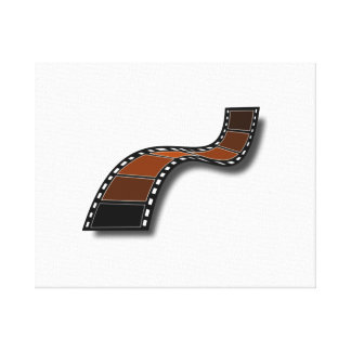 Movie Film Stretched Canvas Print