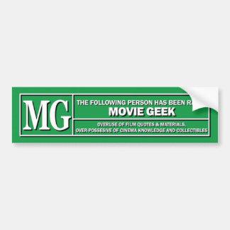Movie Geek Rating sticker Bumper Sticker