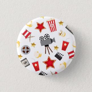 Movie Lover Pattern 3 Cm Round Badge