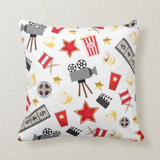 Movie Lover Pattern Throw Pillow