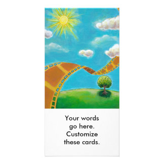 Movie lovers fun unique art film strip landscapes custom photo card