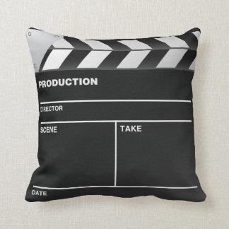 Movie maker Clap Board Throw Pillow